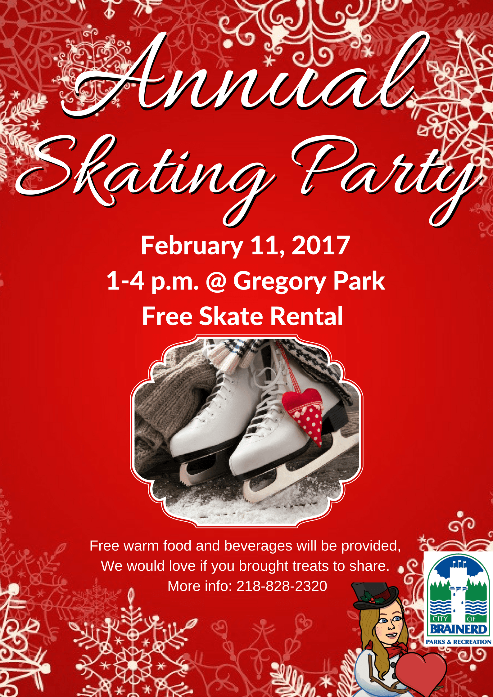 2017 Annual Skating Party Flyer